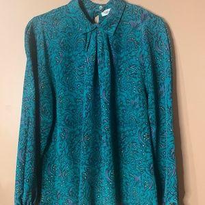 Vintage collar long sleeve shirt